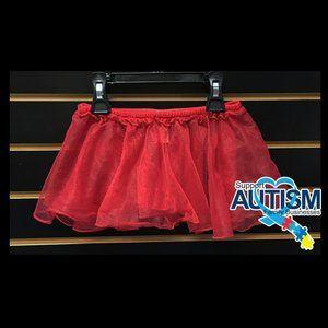 🌸💲5) Carter's Ballerina Red Tulle Skirt Size 7